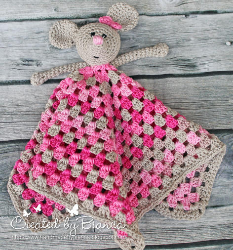 Handmade By Bianca Schnuffeltuch Maus Gehäkelt Für Babys