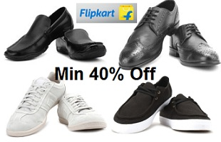 Minimum 40% Off on Men's Footwear @ Flipkart (Limited Period Offer)