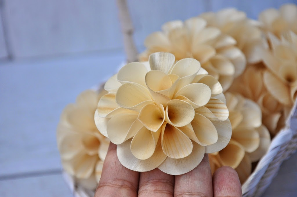 Wooden Dahlias Flowers Made Of Birch Wood Shavings