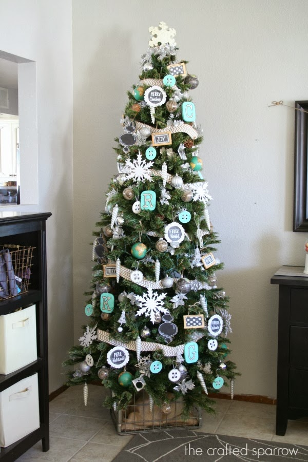 Chalkboard Inspired Christmas Tree - The Crafted Sparrow