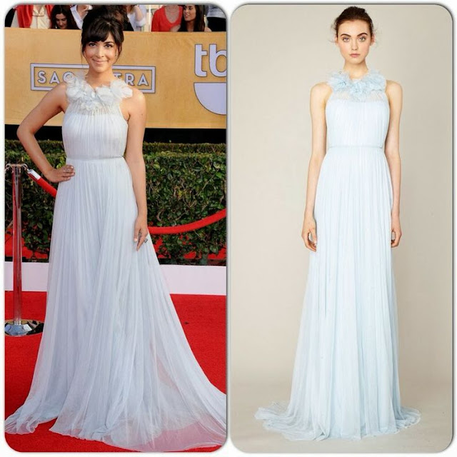Hannah Simone in Marchesa – 2014 SAG Awards