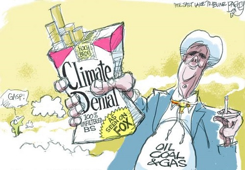 Koch Bros Climate Denial / 100% Unfiltered BS as Seen on Fox (Credit: www.facebook.com/iheartcomsci)
