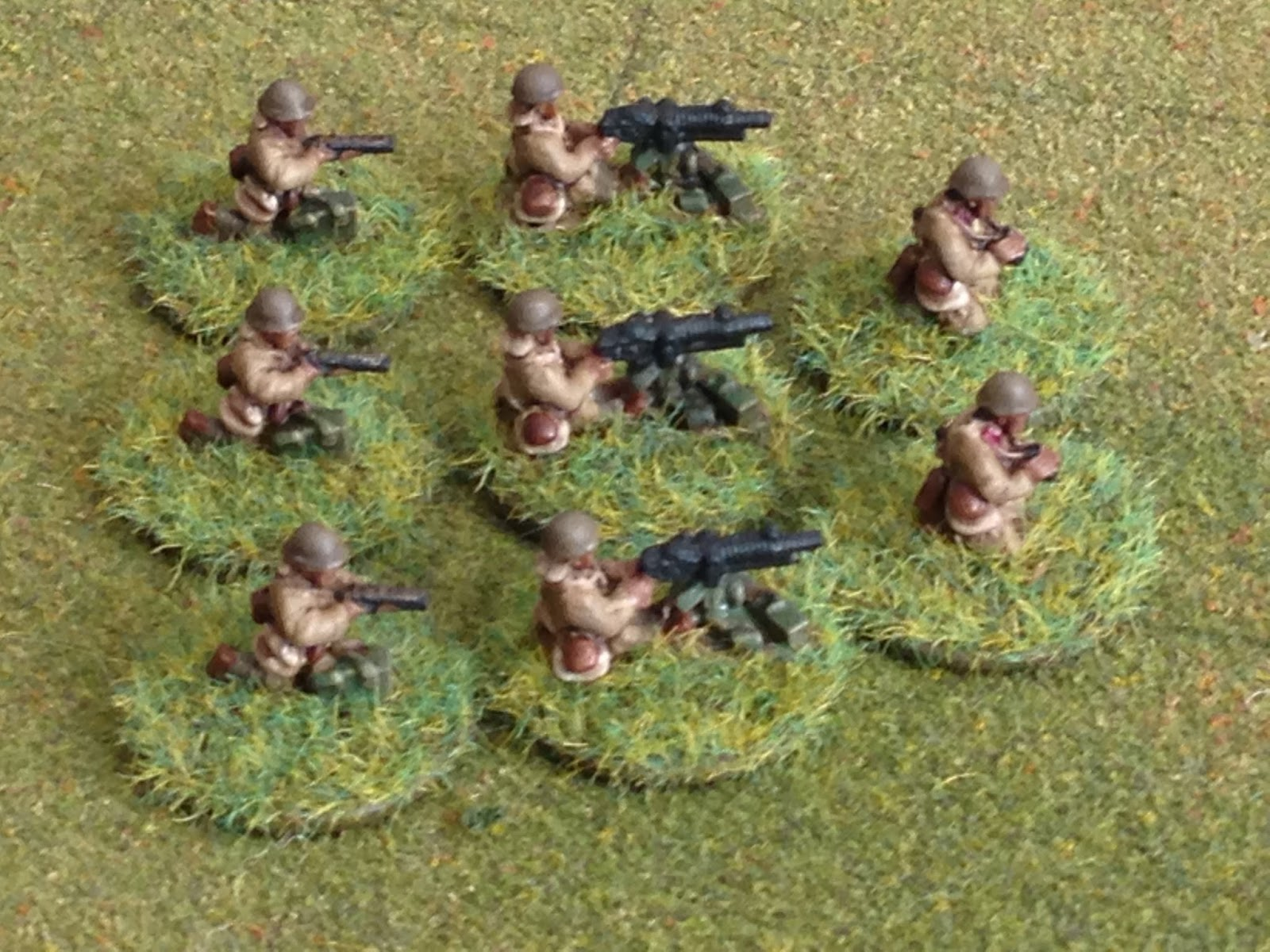 BlackHawkHet: Peter Pig WWII 15mm Japanese Machine Guns