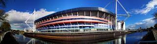Vista del magnífico Millenium Stadium de Cardiff
