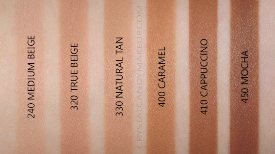 Revlon Photoready Insta-Filter Foundation Swatches 240 320 330 400 410 450 NW45 NC42 NW50