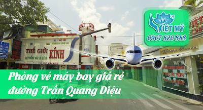 Phòng vé máy bay đường Trần Quang Diệu