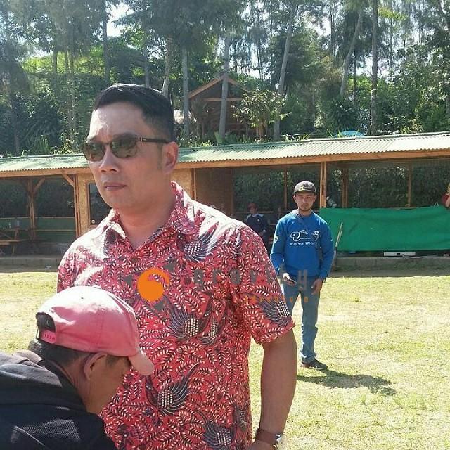 Bapak Ridwan Kamil Walikota Bandung di Gravity Adventure