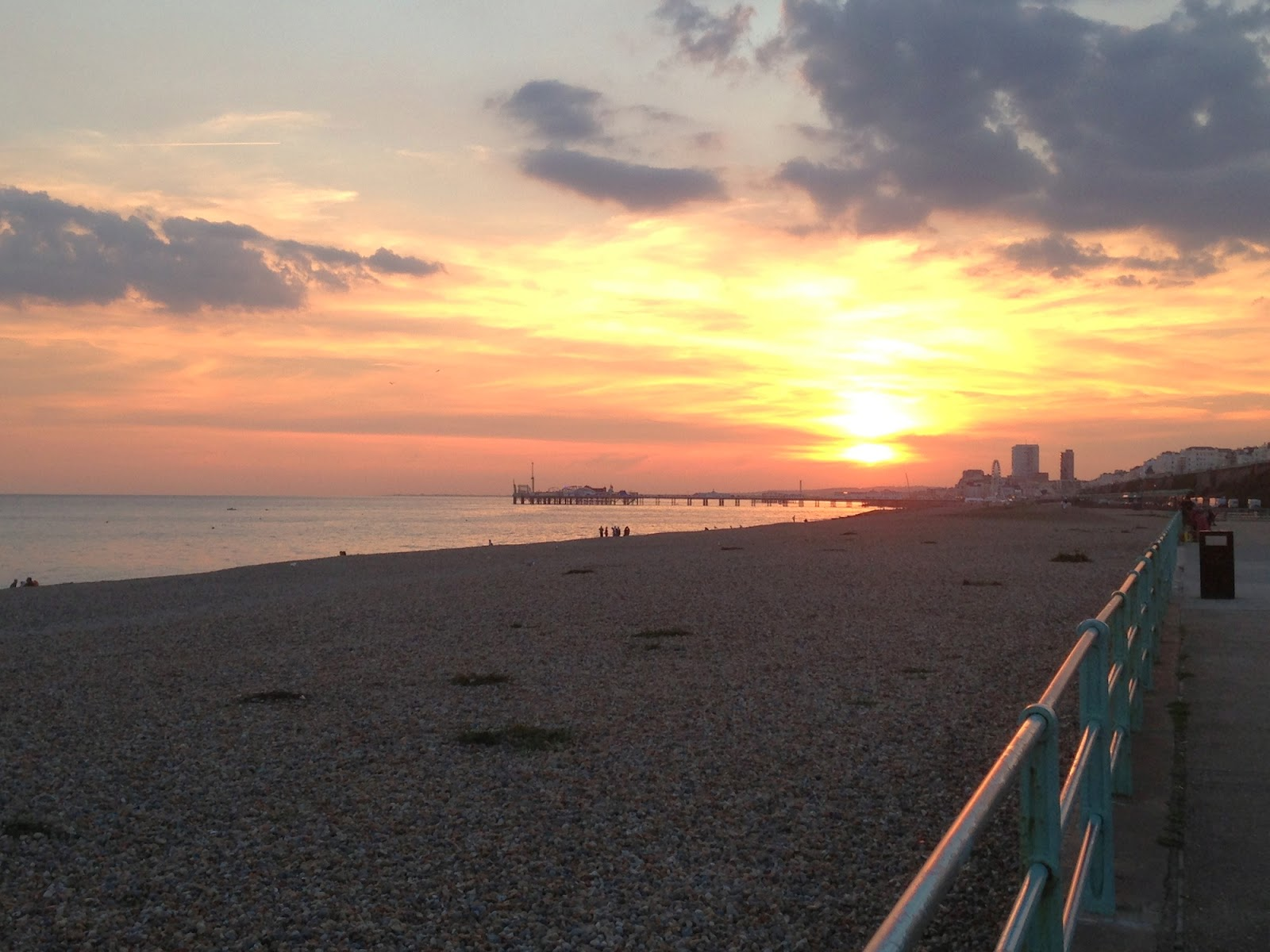 Brighton seafront sunset - copyright Tess Agnew