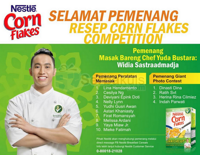 Pemenang Kontes Resep Nestle Corn Flakes