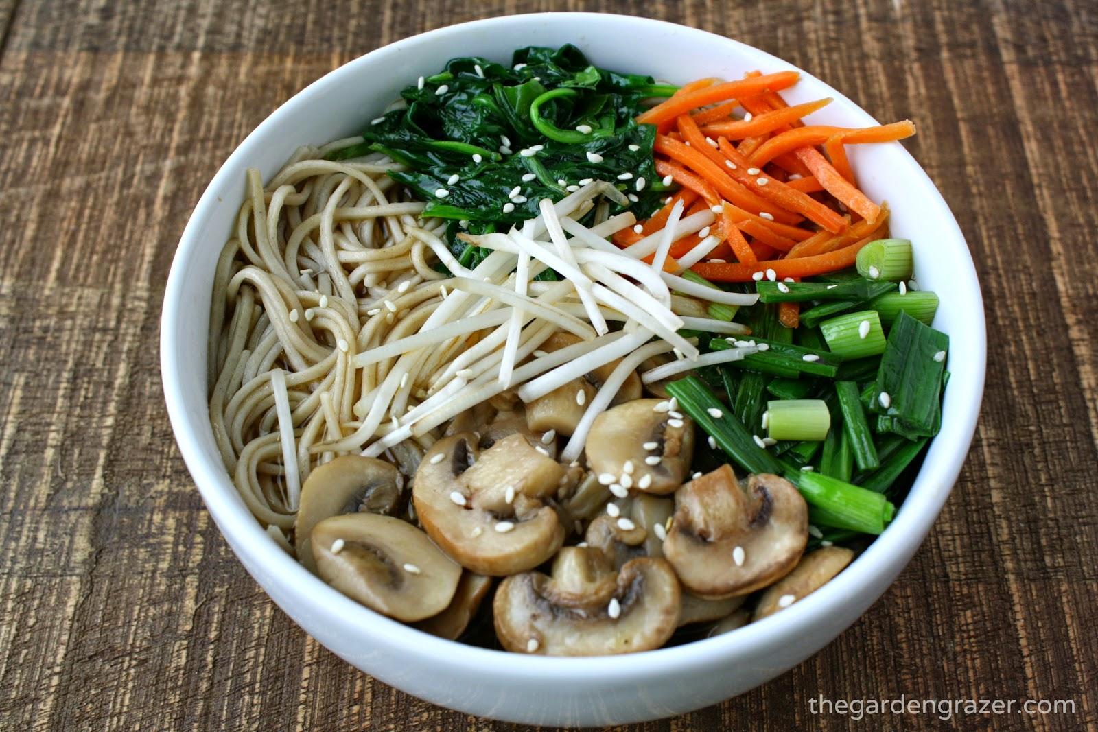 Asian style noodle soup