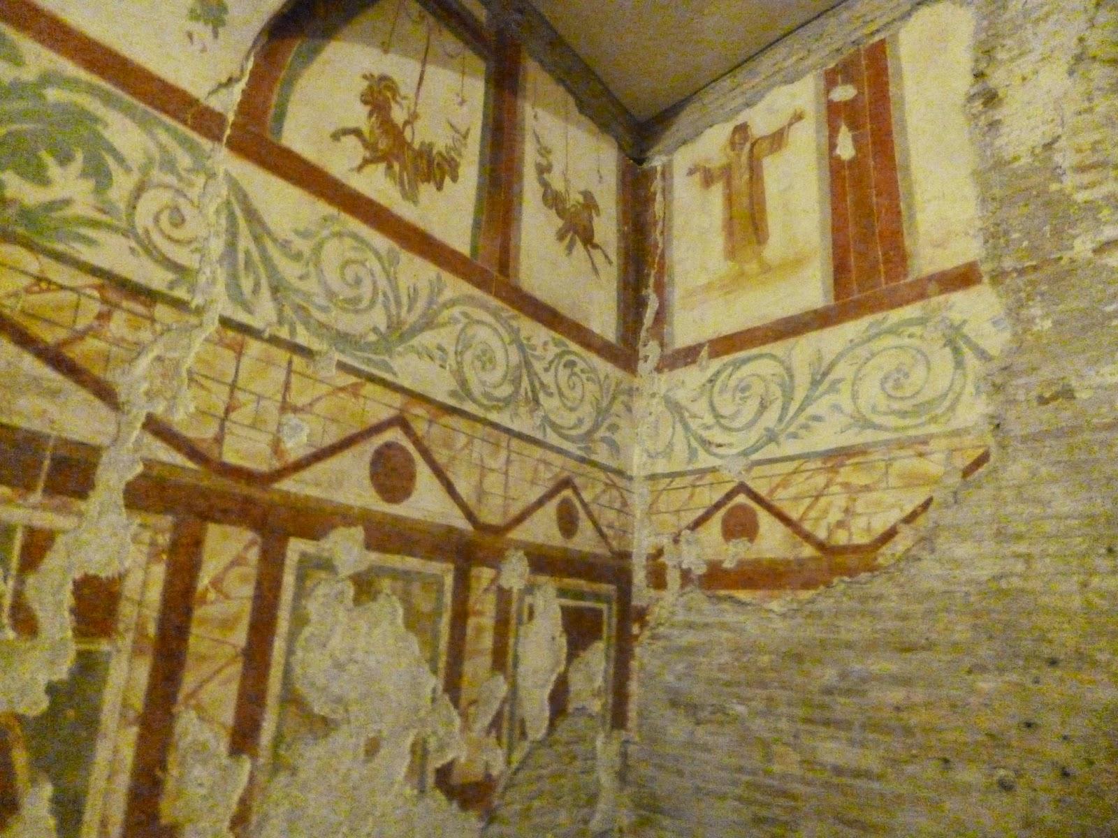 afresco casas romanas7 - Colina Celio, afrescos do período imperial