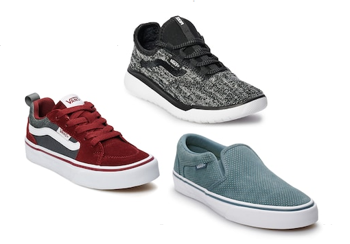 614f309aac8a Head to Kohls were they have Vans shoes on clearance for up to 60% off.  Prices start at  16.99. There are 11 different styles to choose from for  toddlers
