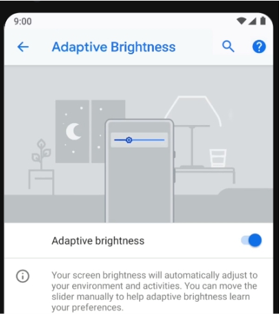 Android 9 Pie Adaptive Brightness