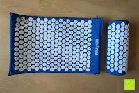 Kissen und Matte: High Pulse Akupressur-Set - Akupressurmatte & Akupressurkissen für eine einfache und wirksame Behandlung von Schmerzen und Verspannungen am ganzen Körper. (Blau)