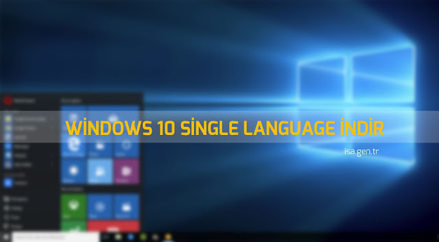 windows 10 single language indir