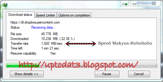 Speed Download dengan IDM