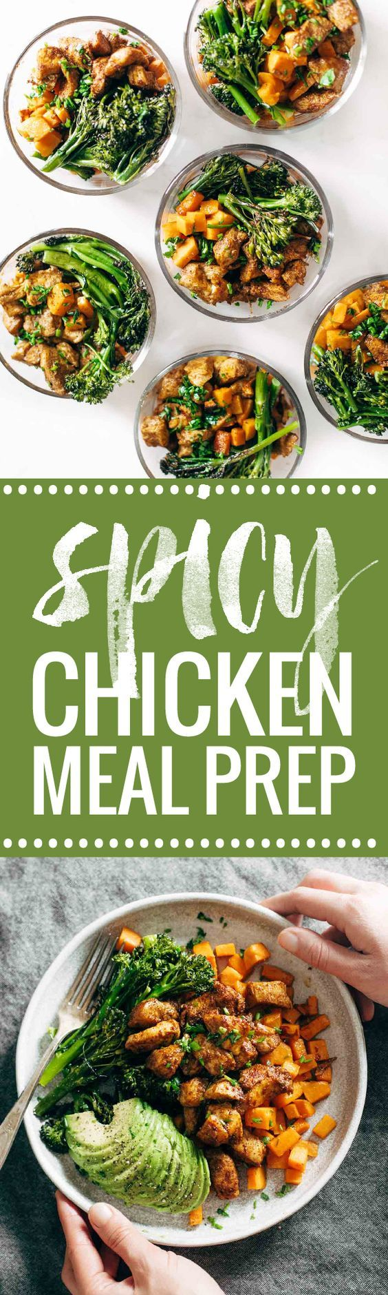 Spicy Chicken Sweet Potato Meal Prep Magic Bowls