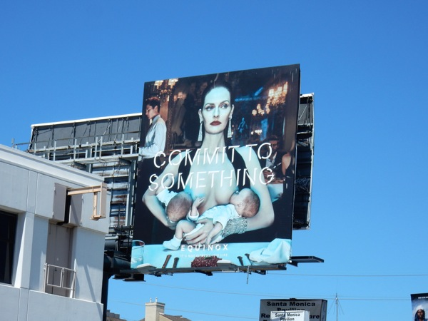 Equinox breastfeeding billboard