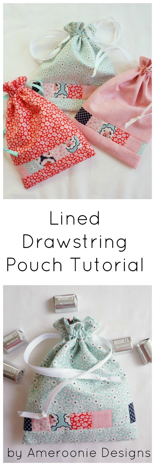 Ameroonie designs posy garden lined drawstring bag tutorial for Drawstring jewelry bag pattern