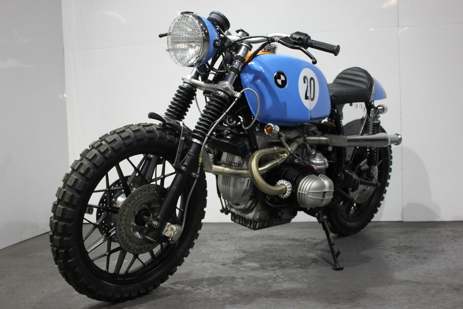 Racing Cafe Bmw R100 Rs Street Scrambler Le Man By Kevils Speed Shop