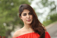Rhea Chakraborty in Red Crop Top and Denim Shorts Spicy Pics ~  Exclusive 115.JPG