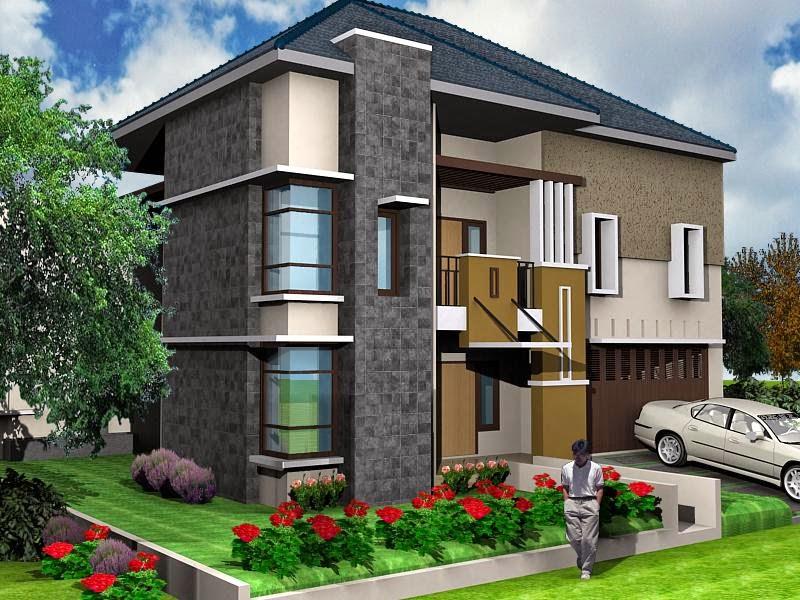 Desain Rumah Minimalis 2 Lantai 3 Dimensi Foto Desain