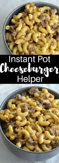 Instant Pot Cheeseburger Helper