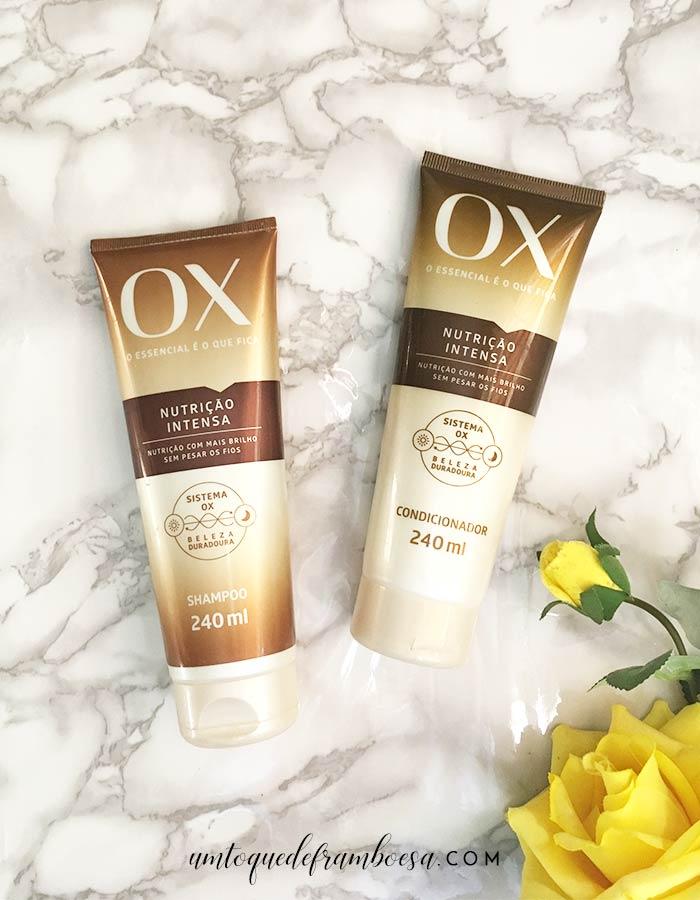 Resenha sobre o shampoo e condicionador da linha Ox Nutrição Intensa