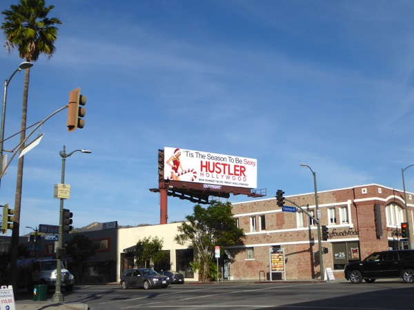 Hustler Hollywood candy cane billboard