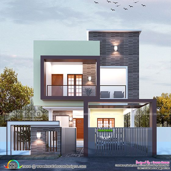 1528 sq ft 3 bedroom modern flat roof house