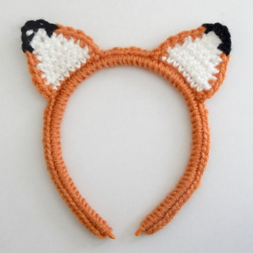 Crochet Fox Ear Headband - Free Pattern