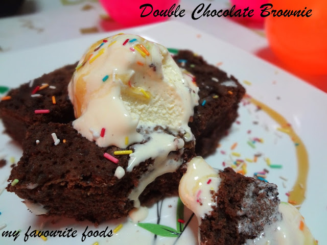double chocolate brownie