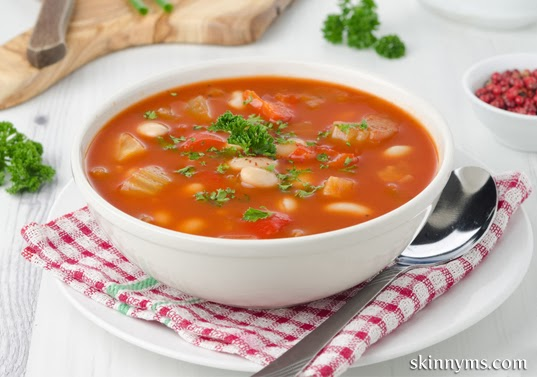 Healthy Slow Cooker Hearty Vegetable and Bean Soup image