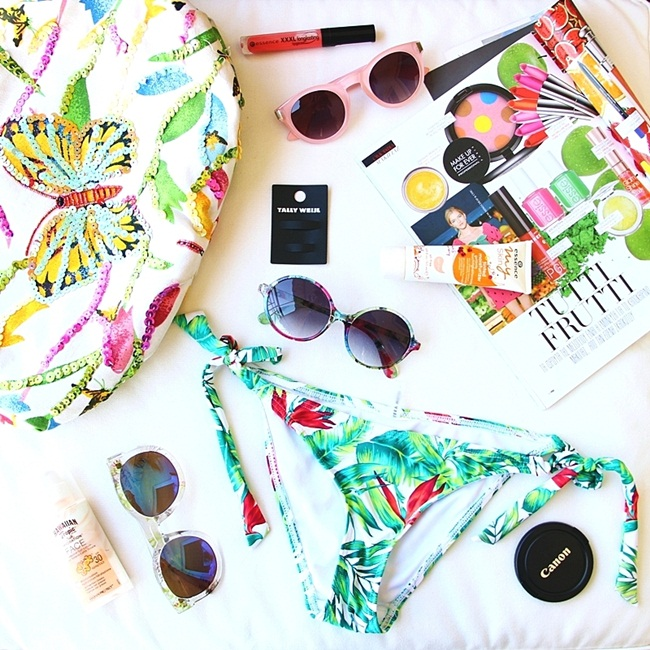 Best summer flatlays with bikinis and beachwear
