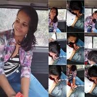 Novinha safadinha pagando boquete delicioso no carro do seu namorado