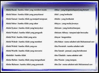 Nama Nama Anak Laki Laki Islam