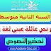تحضير نص عائلة عيني اللغة العربية للسنة الثانية متوسط - الجيل الثاني