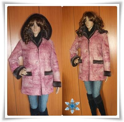Pret redus! Jacheta de iarna, foarte calduroasa, impecabila, superba!