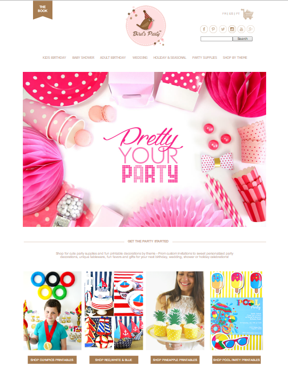 Party Supplies & Printables at BirdsParty.com