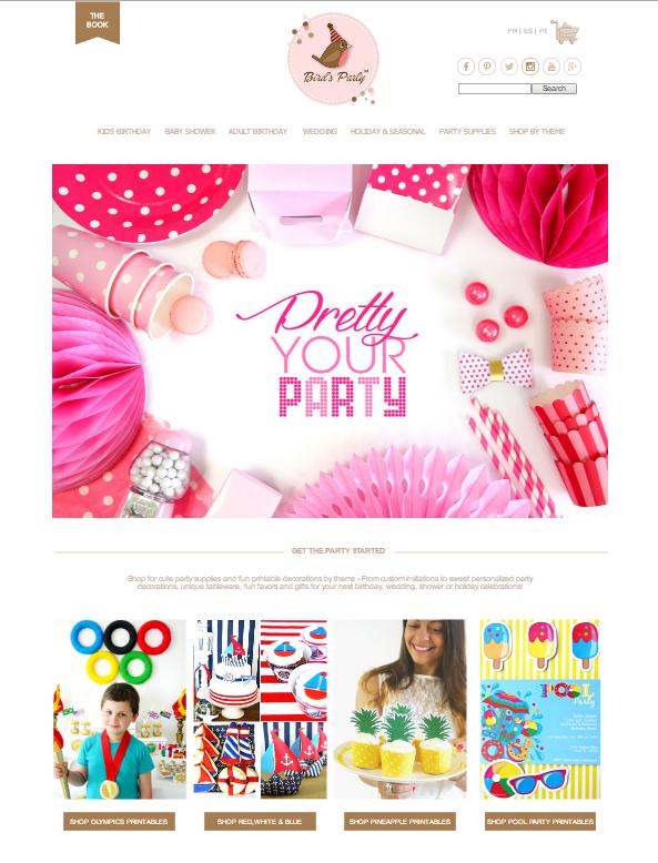 Party Supplies & Printables at BirdsParty.com