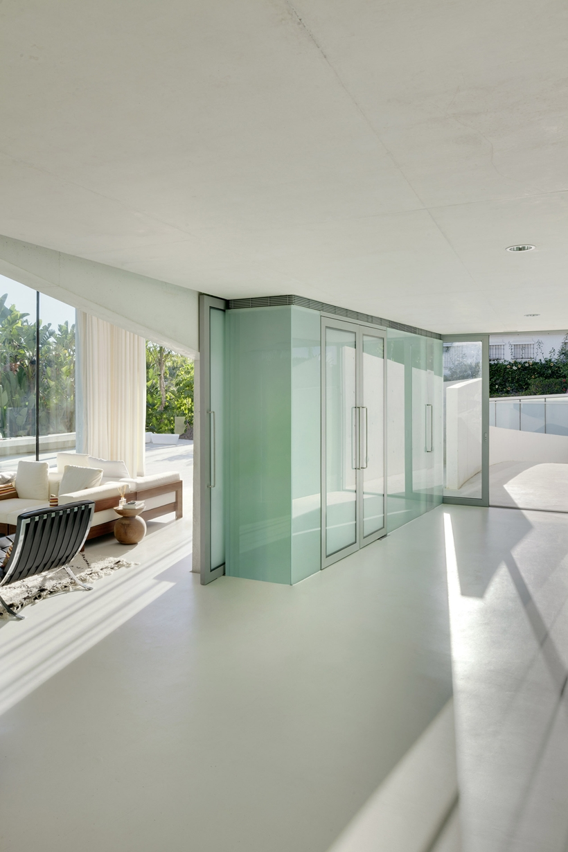 Interior of the House with swimming pool by Wiel Arets Architects (WAA)