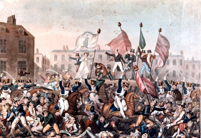 Painting of the Peterloo Massacre by Richard Carlile, 1819