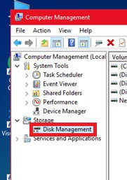 Click on Diskmanagement