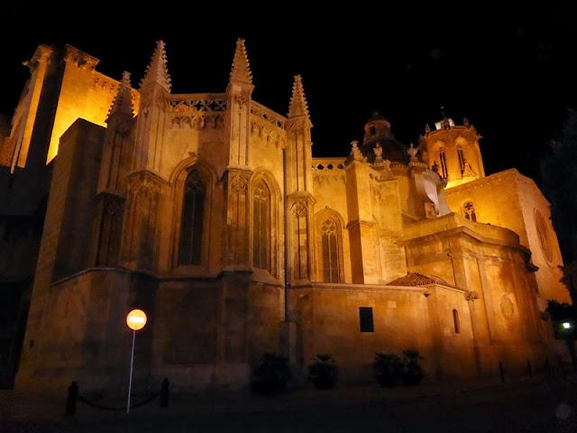 Catedral de Tarragona, vista nocturna