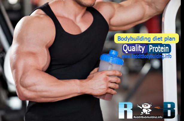 Bodybuilding diet plan : Quality Protein !