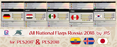 PES 2018 All National Flags Russia 2018 by JAS