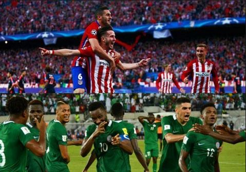 Nigeria vs Atletico Madrid (WATCH HERE)