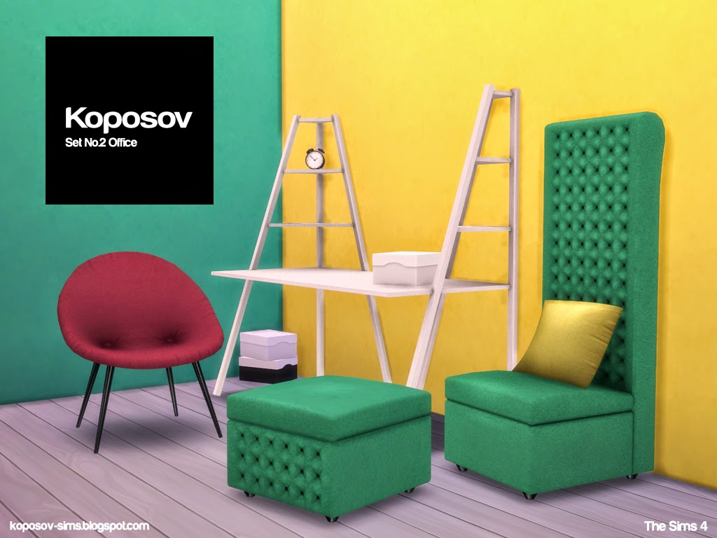 Koposov Objects For The Sims Set No 2 Office For The