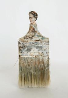 marion mahony-pennelli-rebecca szeto-Paintbrush Portraits-scultura-la santa furiosa