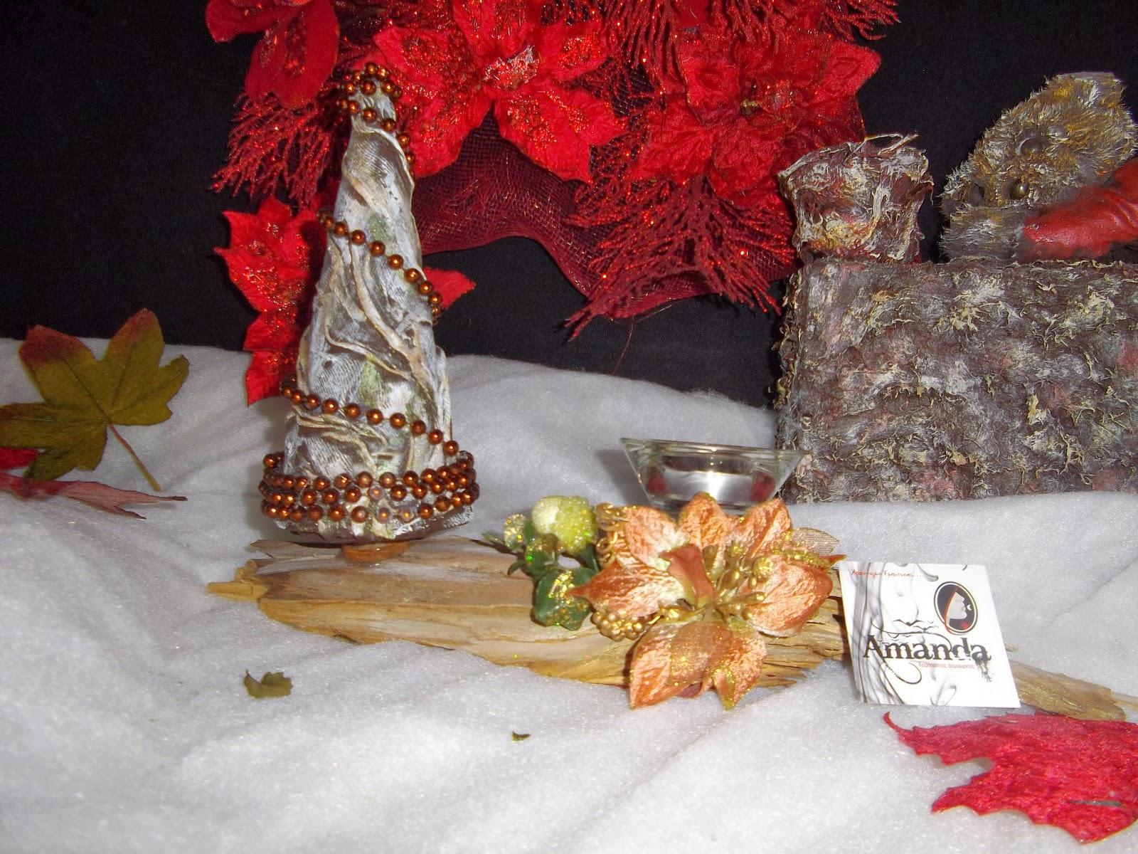 207434d3b16 Amanda's Handmade Creations: Επιτραπέζια χριστουγεννιάτικη σύνθεση ...